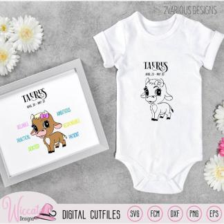 Baby girl Taurus with traits, Zodiac sign newborn