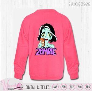 Zombie girl sweater