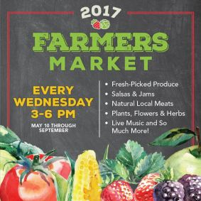 Farmers Market Every Wednesday 3 pm - 6 pm thru September at GreenAcres Clear Lakes