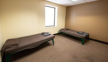 """Sedgwick county's recommended budget includes nearly $15.5 million for a new crisis center — which would expand their current detox unit, pictured above, from 15 to 20 beds. More """"detox beds"""" would open more room to help those going through withdrawal. (Alex Unruh/The Beacon)"""