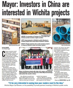 Mayor - Investors in China are interested in Wichita projects 2013-12-19 page