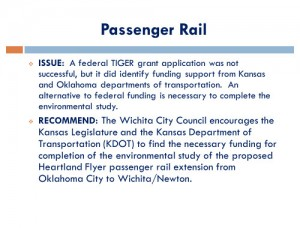 Wichita Legislative Agenda, November 2014, page 07, Passenger Rail