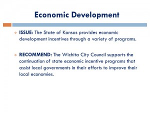 Wichita Legislative Agenda, November 2014, page 16, Economic Development