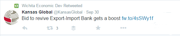 Wichita governmental agencies favor the Export-Import Bank.