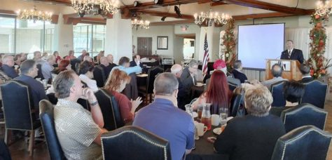 Congressman Mike Pompeo at the Wichita Pachyderm Club.