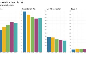 Performance levels in Wichita schools