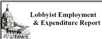 Kansas lobbyist expenditure report