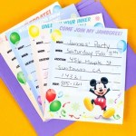 FREE Printable Party Invitations from Disney