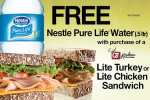 Quik Trip Coupon: Free bottle of Nestle Pure Life Water with Sandwich Purchase