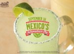 On the Border restaurant specials Mexican Independence Day 2014
