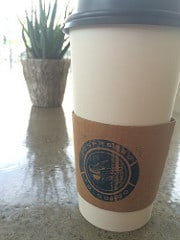 Cup of coffee at Espresso To Go Go on Downtown Wichita cleanup day