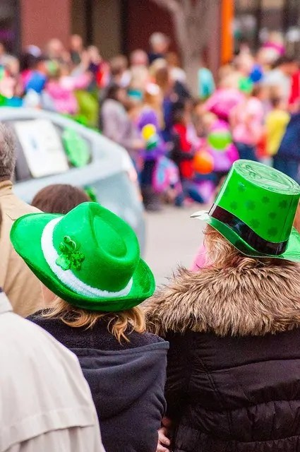 St. Patrick's Day parade in Delano Wichita - green hats for the parade!
