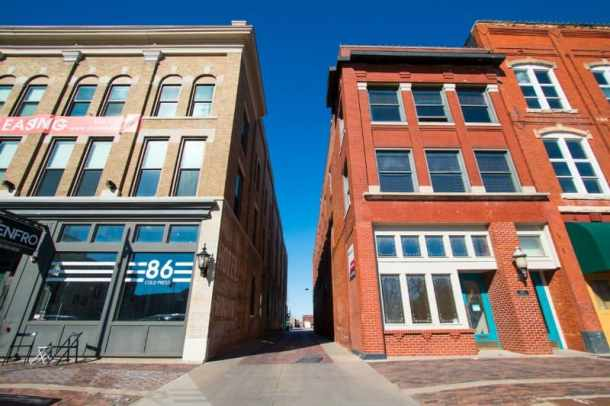 front view of New Gallery Alley space in downtown Wichita, Kansas