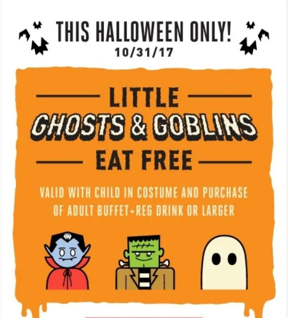image relating to Cici's Pizza Printable Coupons known as Youngsters within just dress try to eat cost-free at Cicis Pizza upon Halloween