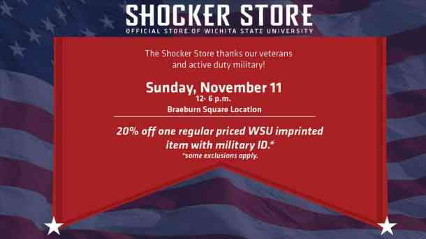 2018 Veterans Day deal Wichita State University Shocker campus store
