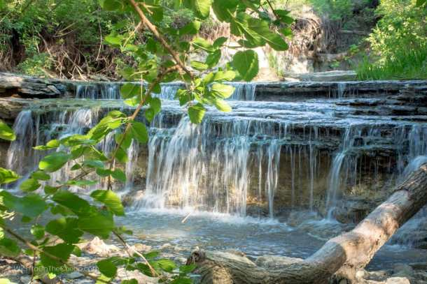 Chase State Lake Waterfalls in Strong City, KS