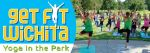 Free yoga in the park Wichita Park and Recreation plus Genesis Health Clubs