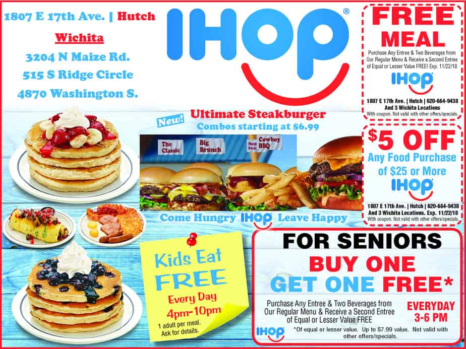 photograph regarding Ihop Coupons Printable called Clean discount coupons for Wichita, Harvey County, and Hutch at