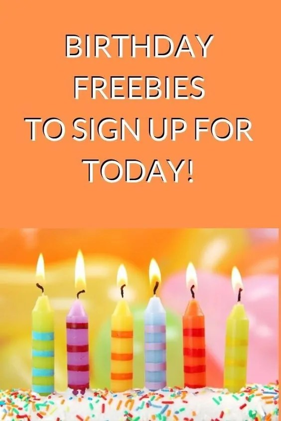 Birthday candles on a birthday cake - Birthday freebies you can sign up for now.