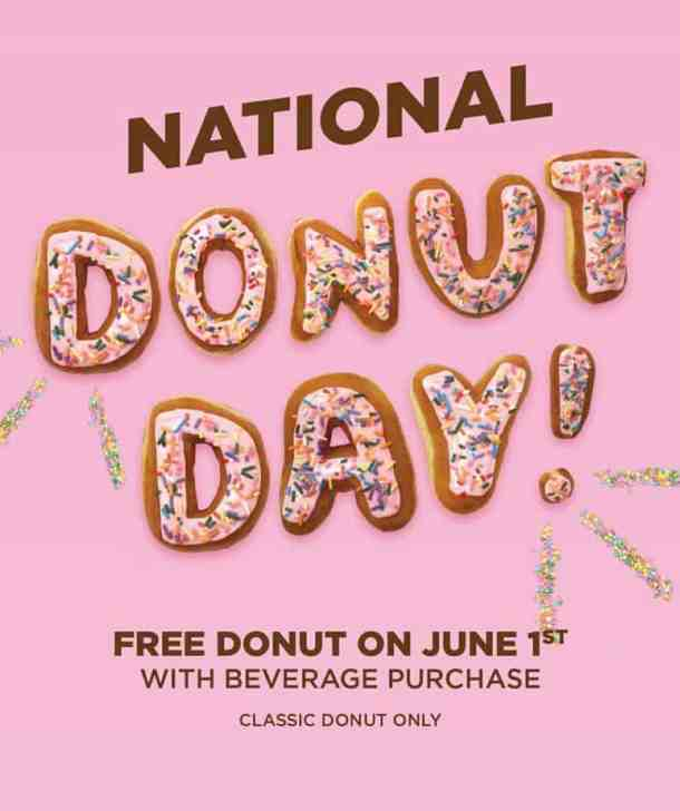 Dunkin Donuts National Donut Day deal