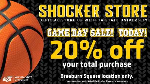 WSU Basketball season - discount at Braeburn Square Shocker Store when the men's team plays at home!
