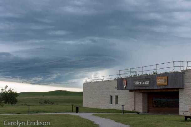Storm clouds roll in over the Tallgrass Prairie