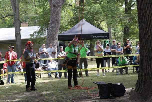 North American Open Masters Tree Climbing Championship at Oak Park in Kansas - Wichita