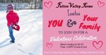 Family-friendly Valentines Day party at Fulton Valley Farm in Butler County