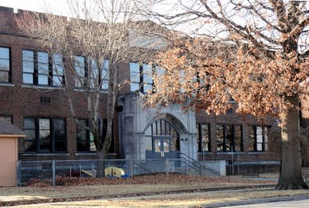 The front of the building - Willard Elementary opened in 1927, and was most recently used as an alternative high school, Metro-Boulevard.