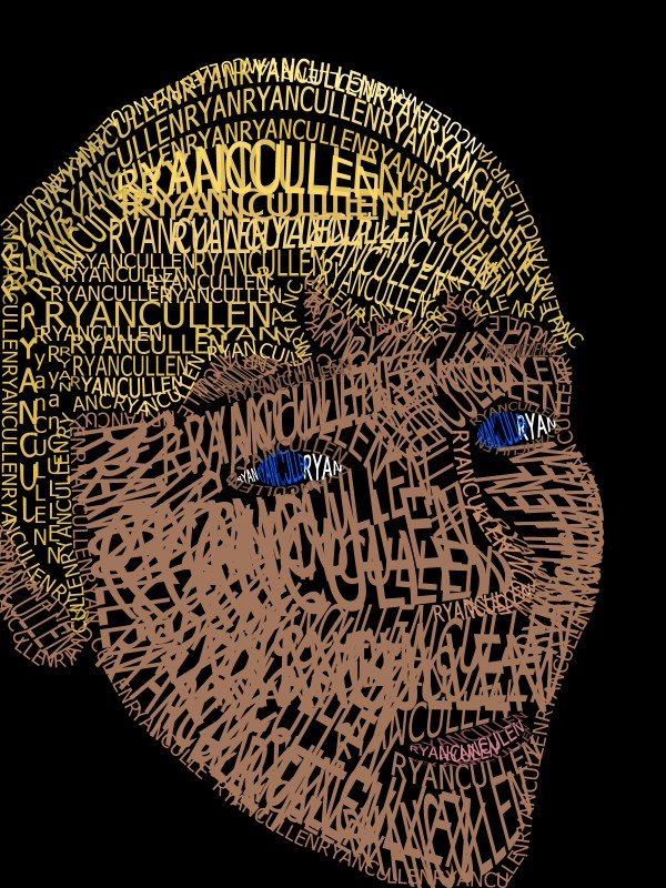 Self Portrait out of Words | Wicked Awesome