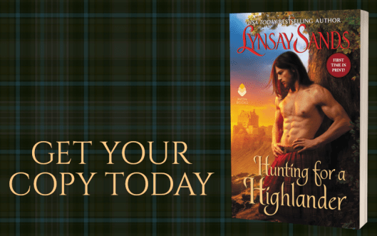 Promo Graphic - Hunting For a Highlander by Lynsay Sands - 2