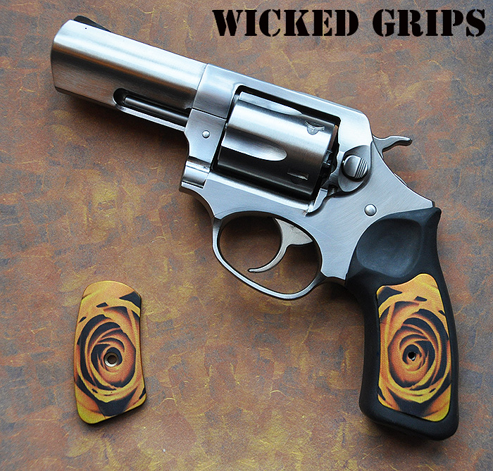 Custom Ruger Sp101 Grips Yellow Rose