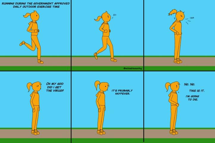 corona 04 running jogger hayfever quarantine wicked reasoning comic