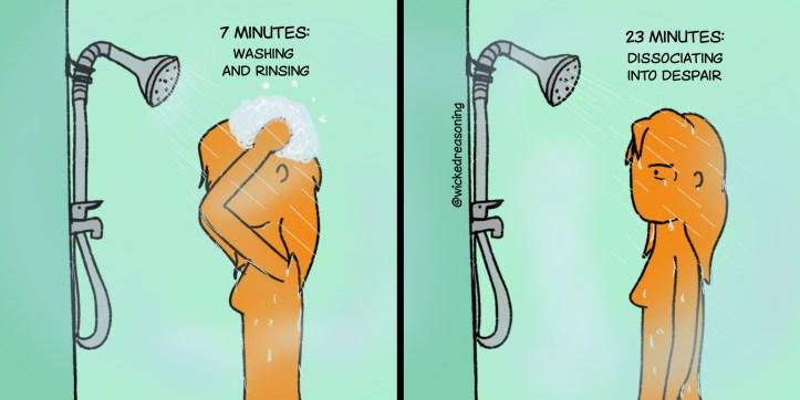 170 shower length despair wicked reasoning