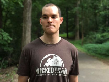 Espresso Brown Comfort Is A Lie Strength Tee Wicked Trail Running
