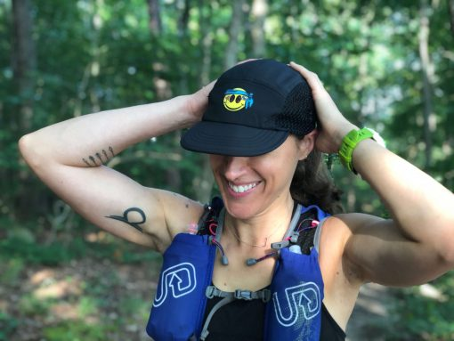 Smiley UltraCap ultra marathon hat by Wicked Trail packable hat