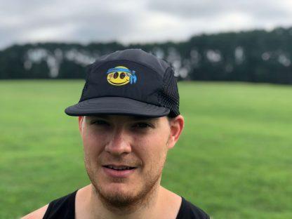 Smiley UltraCap ultra marathon hat by Wicked Trail