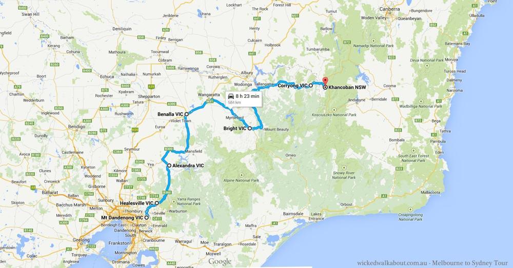 Melbourne to Khancoban Drive