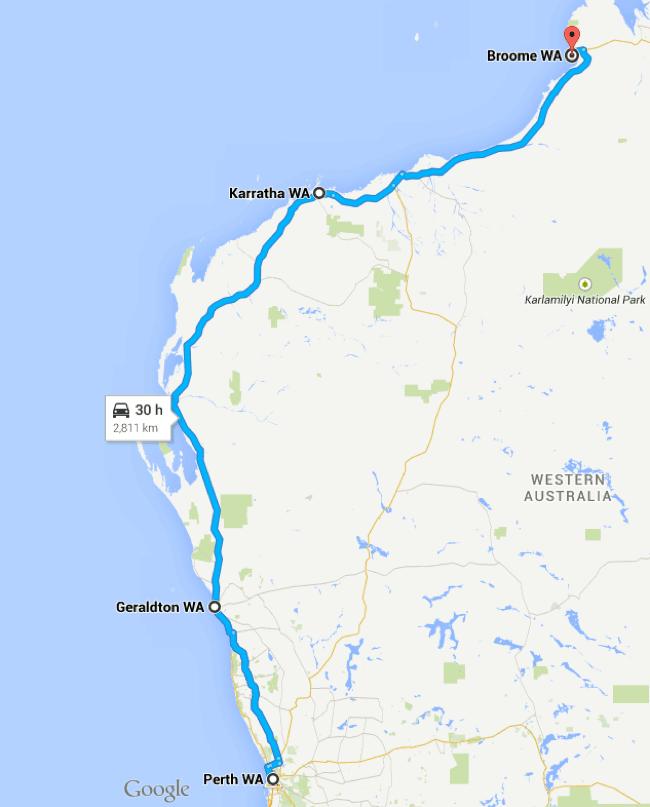 Broome to Perth