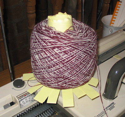 home-made hat yarn cake