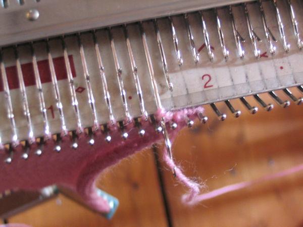 yarn around needle