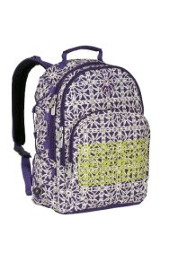 Lässig LBP122107 Wickelrucksack Casual Backpack, New Design, Grid dark purple - 1