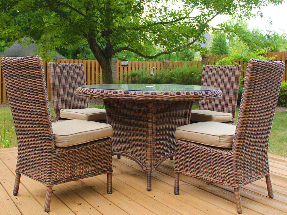South Sea Rattan Del Ray Wicker Dining Side Chair