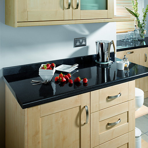 Wickes Taurus Black Gloss Upstand 3m