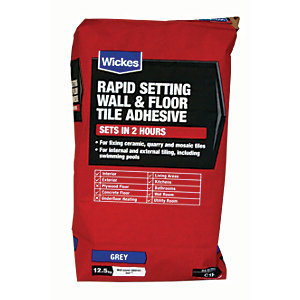 Tile Adhesives   Tile Adhesive   Grout   Wickes co uk Wickes Rapid Setting Tile Adhesive 12 5kg
