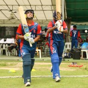 Nepal U19 Cricket Team opners Sandeep Sunaar and Aasif Sheikh