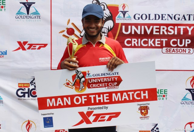 NTC Man Of the Match Kamal singh airee