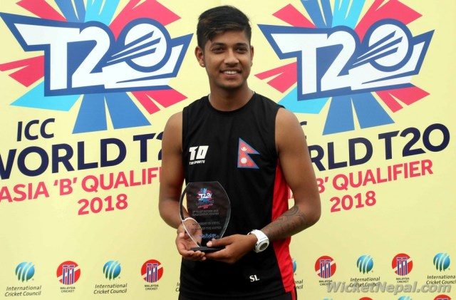 Sandeep Lamichhane ( Player of the match )