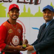Player of the match Sandeep Lamichhane