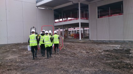 Images from our Technical pupils' site visit